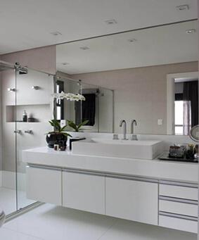 Balcão de Banheiro Planejado Branco